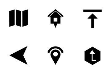 Ma & Navigation Glaph Icon Pack