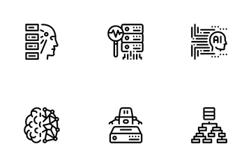 Machine Learning Ai Icon Pack