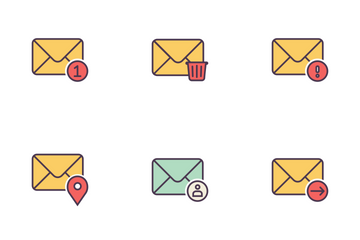 Mail Linefilled Icon Pack