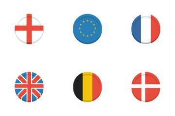 Major World Flag Coins Icon Pack