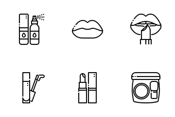 Make Up And Beauty Icon Pack