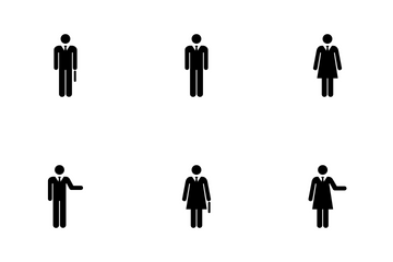 Male And Female - Business People Icon Pack