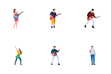 Male And Female Singers And Musicians Icon Pack