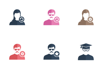 Male Female User Person Avatar Icon Pack