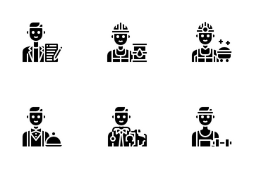 Male Occupation Avatar Icon Pack