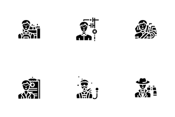 Male Occupation Job Icon Pack