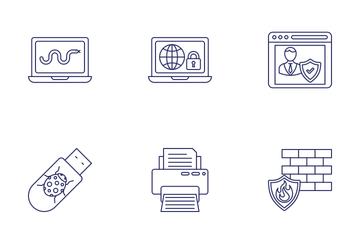 Malware And Antivirus Icon Pack