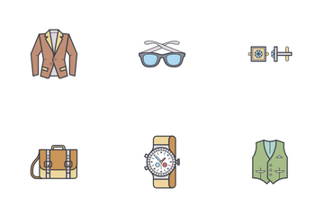 Man Accessories Icon Pack