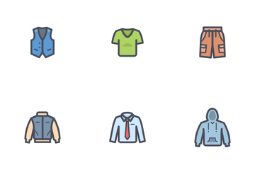 Man Clothing Icon Pack