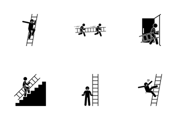 Man With Ladder Icon Pack