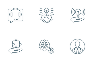 Management And Corporate Development Icon Pack