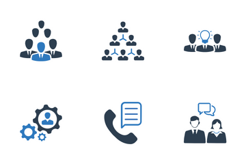 Management And Human Resource (Blue Series) Icon Pack