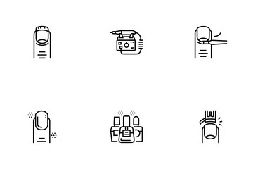 Manicure And Pedicure Icon Pack