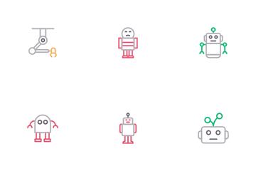 Manufacture Robotics Icon Pack