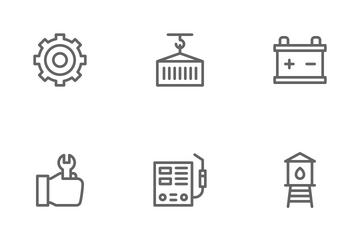 Manufacturing Factory Icon Pack