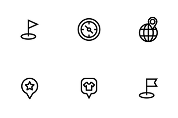 Map And Location Outline Icon Pack