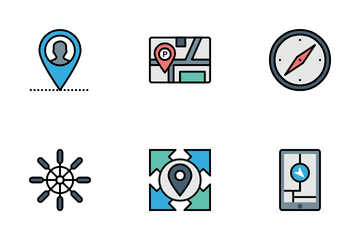 Map And Nevigation Icon Pack