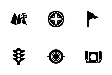 Map And Traveler Icon Pack