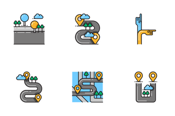 Map Navigation Icon Pack