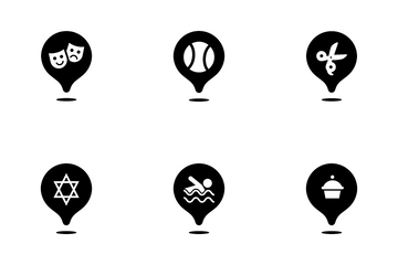Map Pin Locations Icon Pack