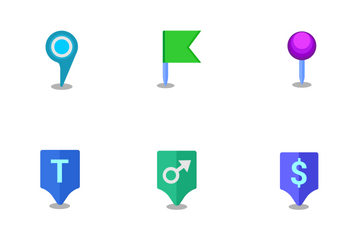 Map Pointers Icon Pack