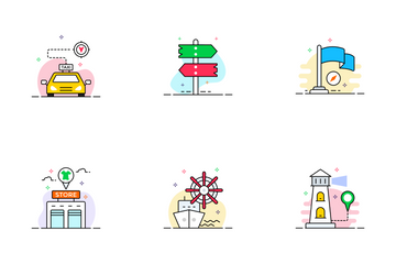 Map & Travel Icon Pack