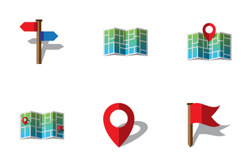 Maps And Geolocation Icon Pack