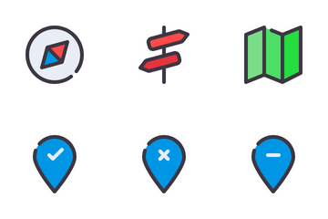 Maps And Location Icon Pack