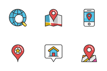 Maps And Navigation 2 Icon Pack