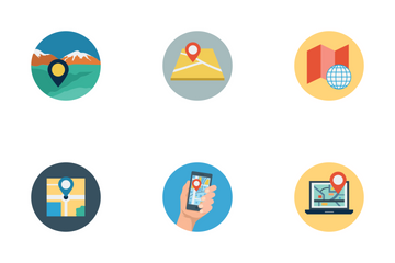 Maps And Navigation Icons Icon Pack