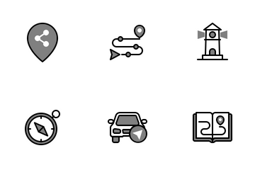 Maps & Navigation Chromatic Icon Pack
