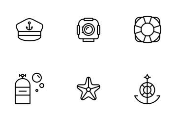 Marine And Nautical Icon Pack