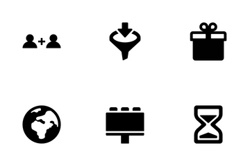 Marketing And Advertising (Glyph) V.1 Icon Pack