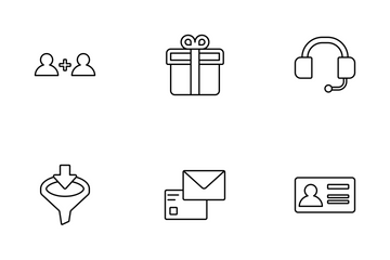 Marketing And Advertising (line) V.1 Icon Pack