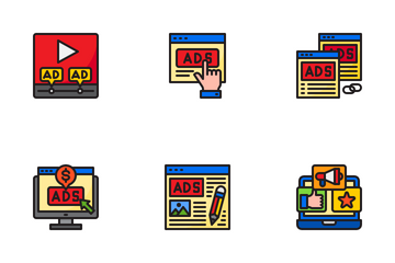 Marketing Online And Seo Icon Pack