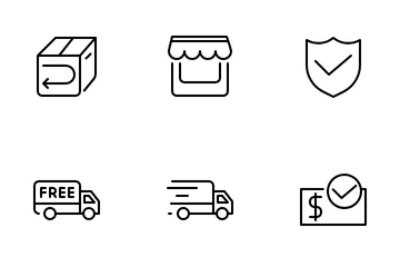 Marketplace And Shipping Icon Pack