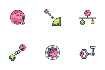 Mars Exploration Icon Pack