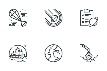 Mars Mission Icon Pack