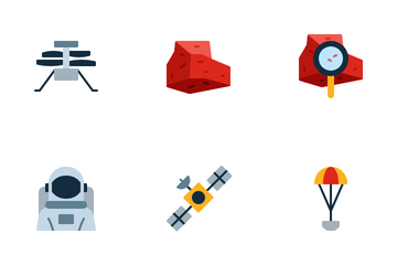 Mars Perseverance Mission Icon Pack
