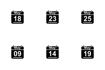 May Calendar 2017 3 - Glyph Icon Pack