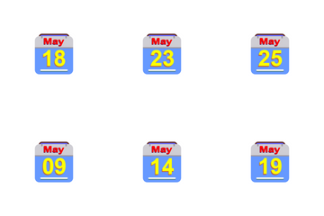 May Calendar 2017 -4 - Flat Icon Pack