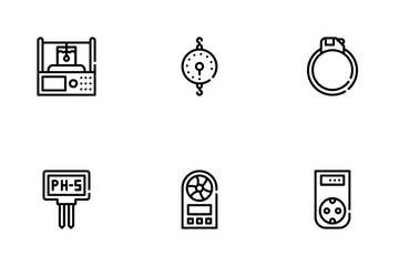 Measuring Equipment Icon Pack
