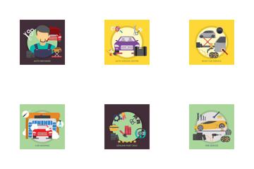 Mechanic And Car Repair Icon Pack