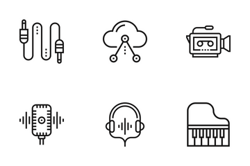 Media And Entertainment Icon Pack
