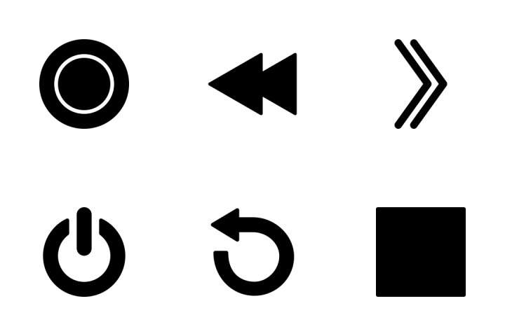 Media Control  Icon Pack