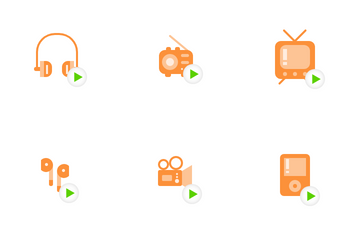 Media Devices And Players Icon Pack