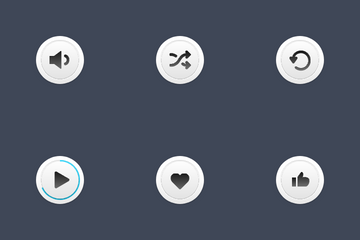 Media Skeuomorph Icons Icon Pack