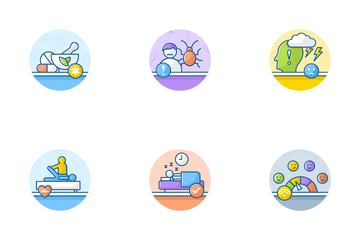 Medical And Depression Treatment Icon Pack