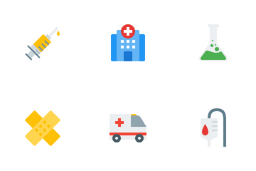 Medical And Health Flat Icon Pack