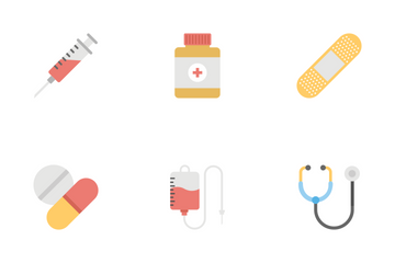 Medical And Health Flat Icons 1 Icon Pack